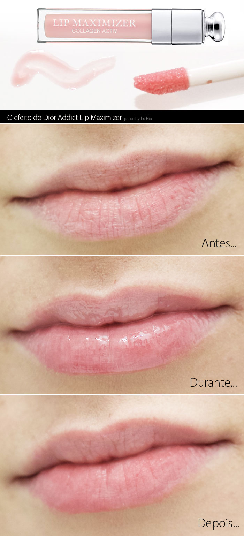 Dior Addict Lip Maximizer Antes e Depois