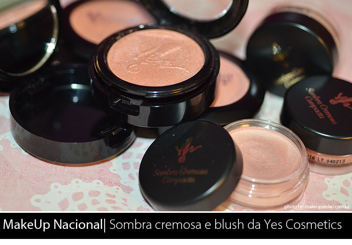 sombra e blush yes cosmetics