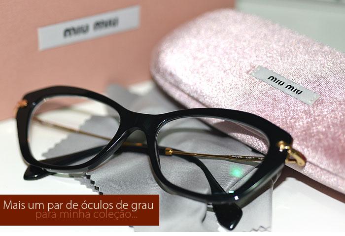 Miu Miu  Mais um par de óculos de grau para coleção. - MakeUp ... 1d0ca55f60