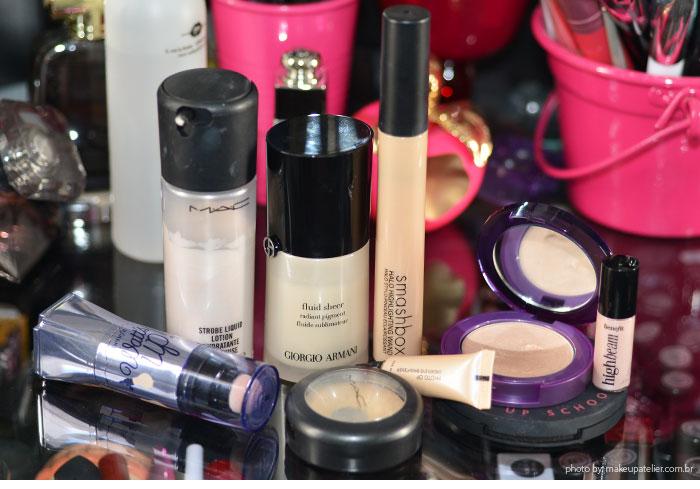 maquiagem - Meus iluminadores favoritos