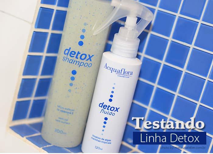 cabelos oleosos com linha Detox Aquaflora