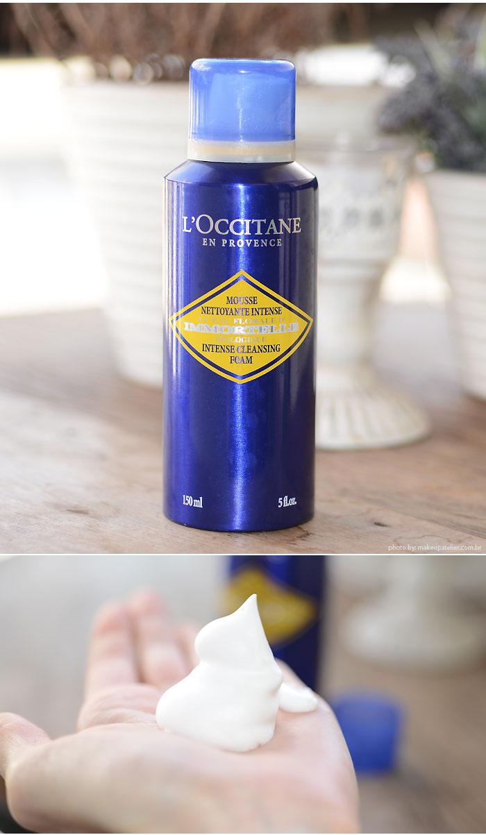 immortelle loccitane espuma-limpeza
