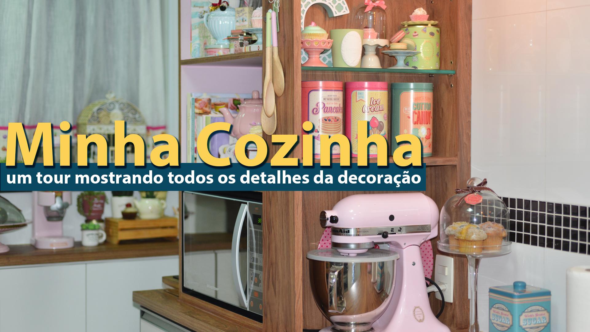 Tour Pela Minha Nova Cozinha Estilo Retr Tons Pastel Geladeira Rosa