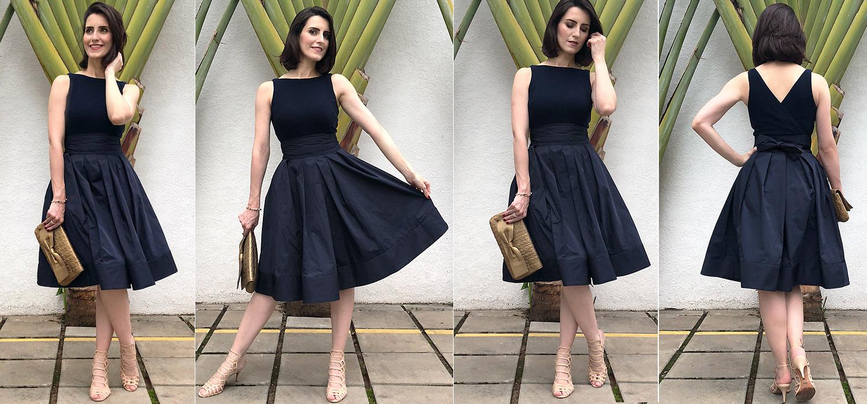 Meu look de Natal | Vestido Lady like azul marinho
