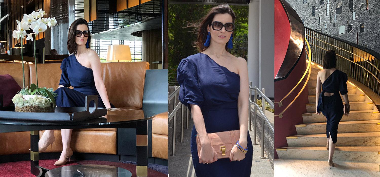 Look do Dia | Vestido de linho assimétrico e perfeito