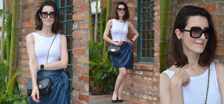 Look do Dia | Saia de couro colorida no verão