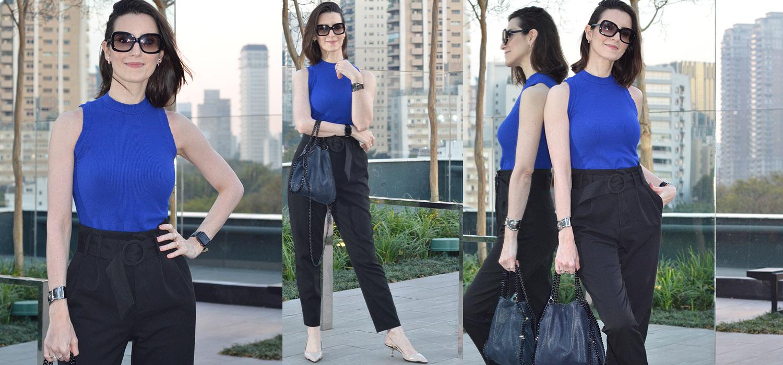 Look do Dia | Dois looks com calça com pregas, cintura alta e cinto