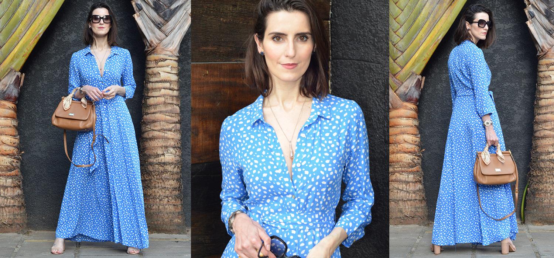 Look do dia | Vestido longo estampado coleção nova da Zara