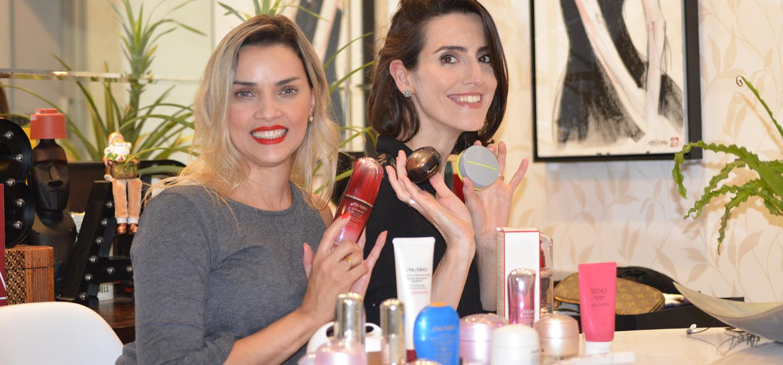 Cinthia Ferreira e Fê Farias com seus Top 10 Shiseido