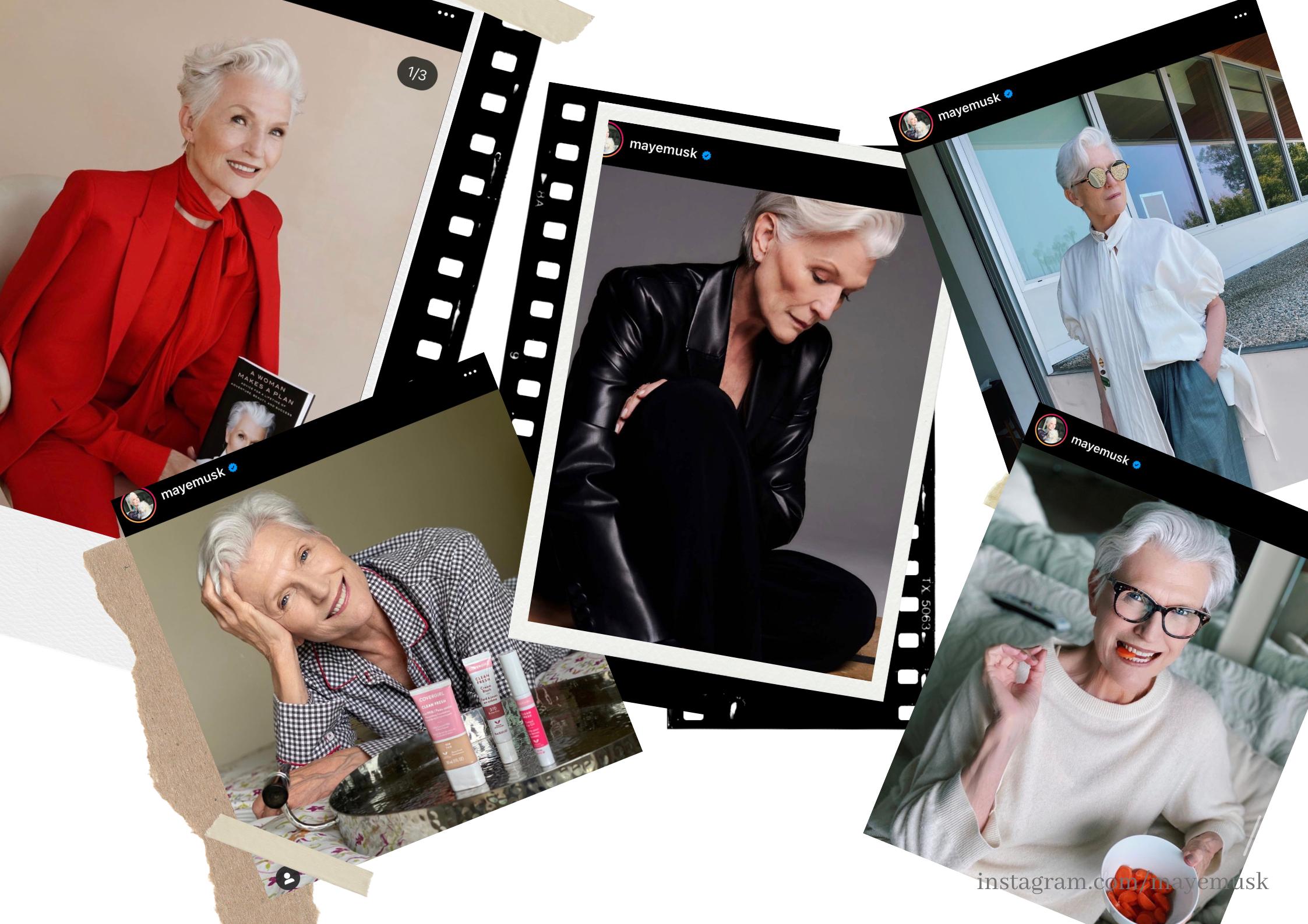 Moda   O estilo de Maye Musk a modelo de 72 anos e mãe de Elon Musk