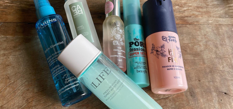 Qual melhor bruma facial e fixador de maquiagem ? Clarins, Dior, Caudalie e mais